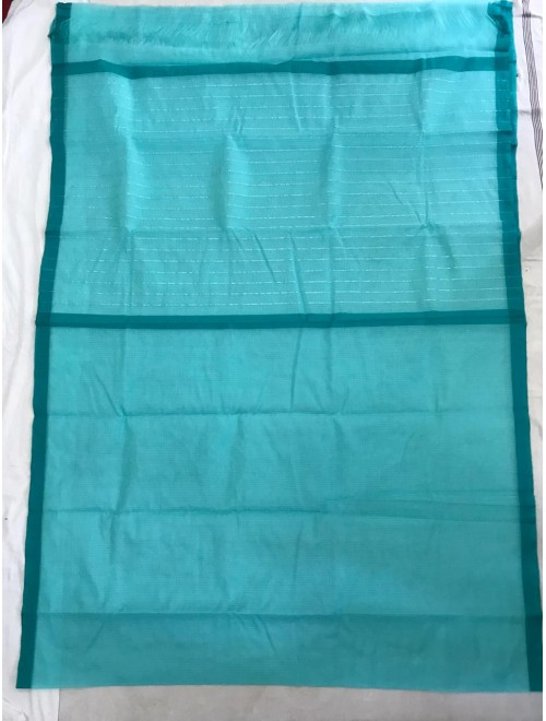 Traditional Handloom Blue Colour Kota Doria Saree For Women