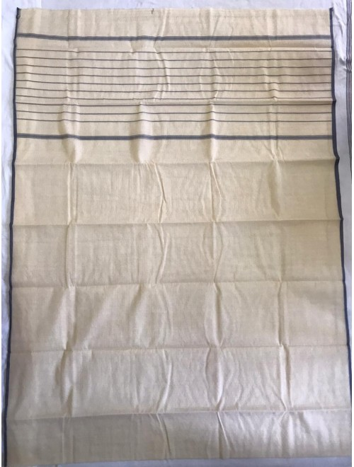 Stylish Handloom Silver Colour Kota Doria Saree For Women