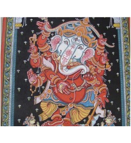 Handmade Orissa Pattachitra Painting of Lord Ganesh for Home Decor