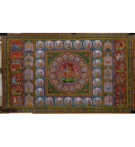 Orissa Pattachitra Painting of Radha Krishna with Gopis  for Home Decore