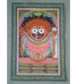 Mesmerizing Art of Orissa Pattachitra Painting of Lord Jagannath for Home Decore
