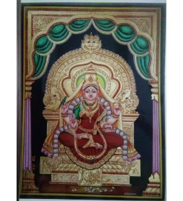 Handmade Goddess Laxmi 22 Carat Actual Gold Foil Mysore Traditional Paintings 16x20 Inches