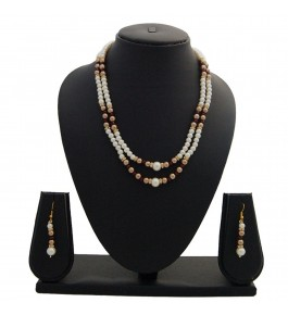 Nisa Pearls Traditional Necklace Set For Women & Girls
