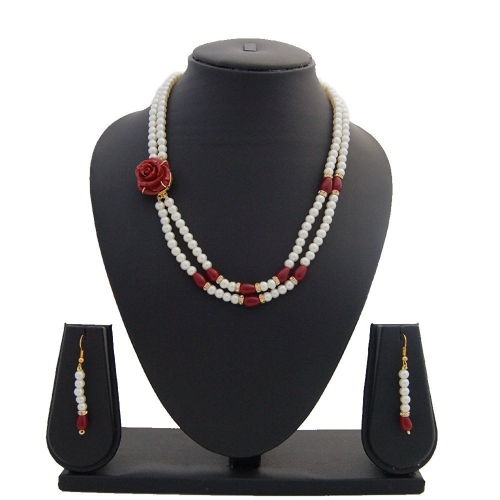 Nisa Pearls Creative Necklace Set For Women & Girls