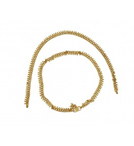Nisa Pearls Shiny Gold Plated Pair Of Anklets for Women & Girls