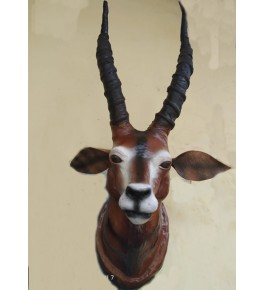 Handicraft Indore Leather Toy Barasingha Head for Wall Hanging