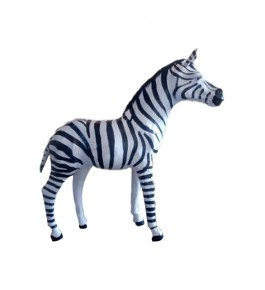 Handmade Indore Leather Toy Zebra