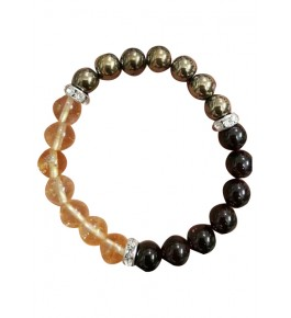 Most Pious Colourful Wrist Band with Round Gemstones Agates of Cambay Bead Bracelet