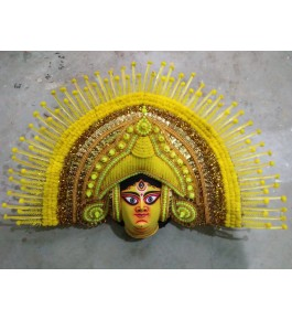 Delightful Handmade Beautiful Goddess Face Purulia Chhau Mask For Decoration Purpose