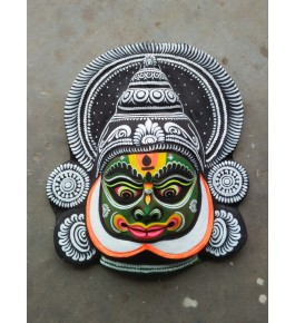 Delightful Handmade Grey Goddess Face Purulia Chhau Mask For Decoration Purpose