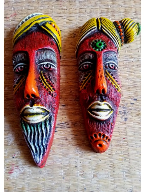 Hand-Painted Handicraft Papier Mache Craft Colorful Mask For Wall Decor