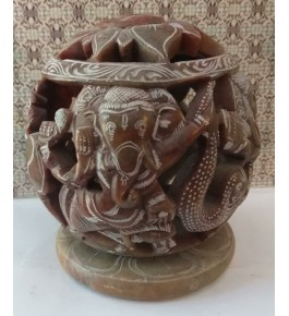 Authentic Handicraft Mahabalipuram Sculpture Elephant Candle lamp Marble Stone For Decoration Purpose