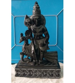 Authentic Handicraft Mahabalipuram Sculpture Blessing Muruga Green Stone For Decoration Purpose