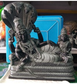 Authentic Handicraft Mahabalipuram Sculpture Lord Venkateswara Sleeping On Snake For Decoration Purpose