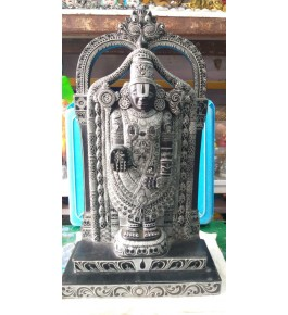 Authentic Handicraft Mahabalipuram Sculpture Blessing Lord Venkateswara For Decoration Purpose