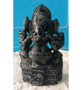 Authentic Handicraft Mahabalipuram Sculpture Lord Ganesha Green Stone For Decoration Purpose