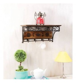 Handcrafted Saharanpur Wooden Antique Look Floating Shelf