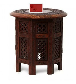 Brown Colour Saharanpur Wood Craft Coffee Table for Home Decor