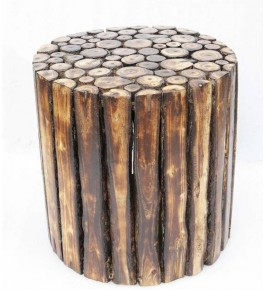 Rounded Saharanpur Wood Craft Table / Stool / End Table / Side Table / Multipurpose Table for Home Decor