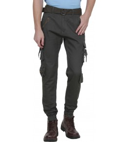 Plain Cotton Black Cargo Pant For Men By Prabhat Jeans
