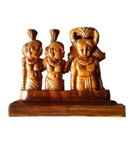 Traditional Bastar Tribal Sculpture Home Decorative Wooden Craft