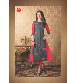Rinky fashion Embroidery Work Rayon Kurti For Women