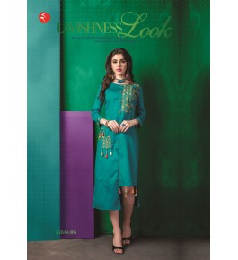 Rinky Fashion Gorgeous Look Kurti With Embroidery Work For Girls