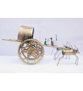 Bengal Dokra Bullock Cart ShowPiece By Bae Of Bengal