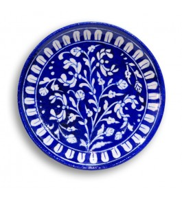 Blue Pottery Of Jaipur Floral Printed Wall Plate
