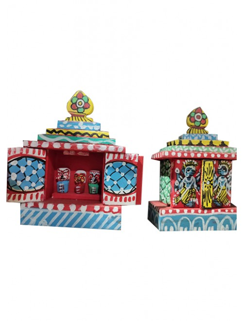 Traditional Handmade Orrisa Pattachitra Beautiful Painted House With Puppets