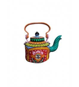 Delightful Traditional Handmade Orrisa Pattachitra Painting On Tea Pot