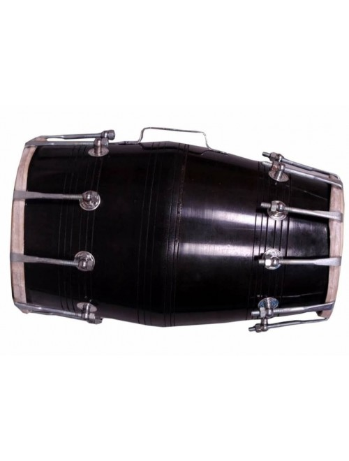 Wooden Handmade Black Musical Instrument Dholak