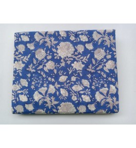 Delightful Sanganeri Hand Block Print Dark Blue Colour Floral Pattern Single Bedsheet