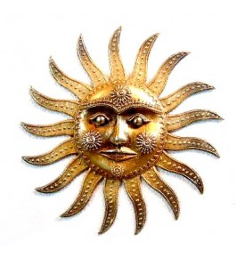 Handmade Bastar Iron Craft Beautiful Sun Wall Hanging