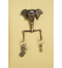 Handmade Bastar Iron Craft Beautiful Elephant Key Holder