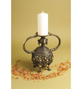 Handmade Bastar Iron Craft Beautiful Designed Candle Holder