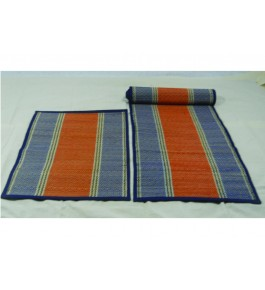 Alluring Handmade Beautiful Madurkathi Asan And Roller Natural Fibre Mat For Daily Use Purpose