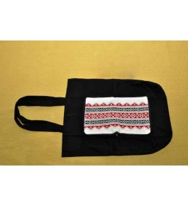 Unique Hand Woven Toda Embroidery Square Bag for Daily Use