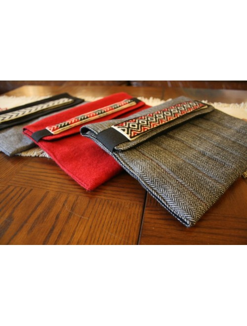 Unique Hand Woven Toda Embroidery I-Pad Covers Wallet