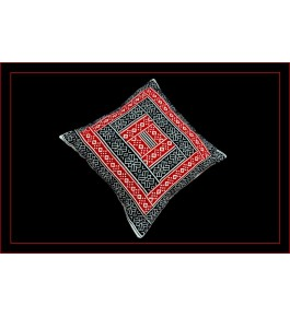 Unique Hand Woven Toda Embroidery Cushion Cover 16x16 inch for Home Decor (Set of 2)