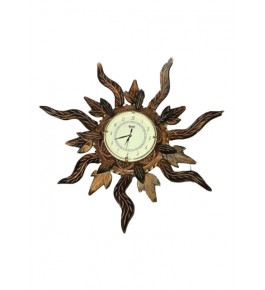 Traditional Handmade Saharanpur Wooden Craft Beautiful Antique Wall Clock For Decoration