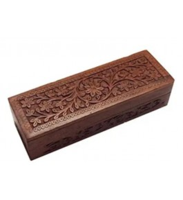 Traditional Handmade Saharanpur Wooden Craft Horizontal Geometry Box For Carrying Stationary Materials