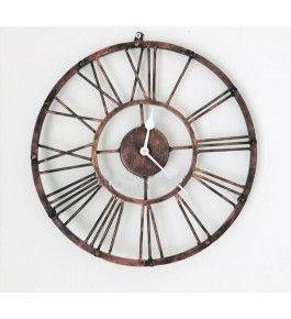 Traditional Handmade Saharanpur Wooden Craft Beautiful Iron Antique Wall Clock For Decoration