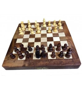 Traditional Handicraft Saharanpur Craft Wooden Chess Board For Game Lovers Made from Sheesham Wood