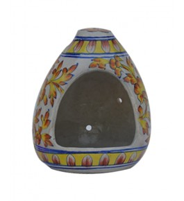 Handmade Multicolour Bird figer With Flower Design Blue Pottery Of Jaipur