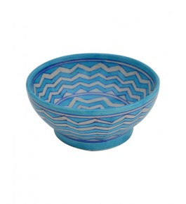 Handmade Blue Colour Bowl Blue Pottery Of Jaipur