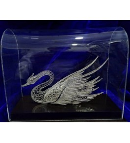 Traditional Handicraft Silver Filigree Design Of Swan For Decoration Purpose