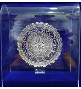 Traditional Handicraft Silver Filigree Design Beautiful Momento For Decoration Purpose