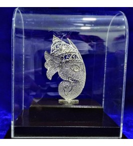 Traditional Handicraft Silver Filigree Design Of Lord Ganesha For Decoration Purpose