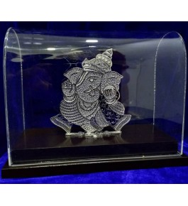 Traditional Handicraft Silver Filigree Design Of Lord Ganesha ( Big ) For Decoration Purpose